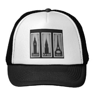 citys of dream: london, Paris and ny Trucker Hat