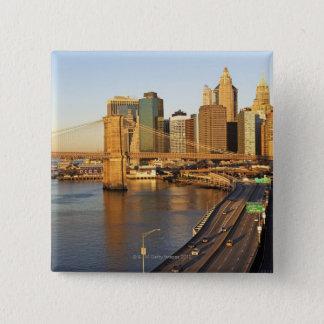 Cityscape 15 Cm Square Badge