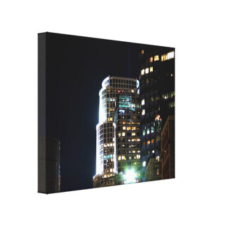 Cityscape 16 stretched canvas print
