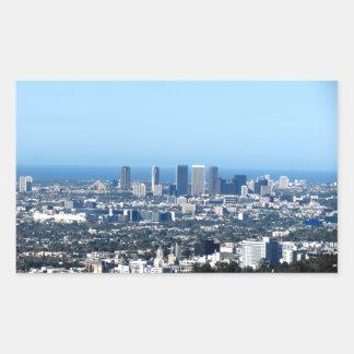 Cityscape 1 rectangular sticker