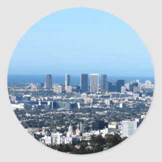 Cityscape 1 round sticker