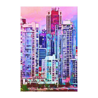 cityscape #4 stretched canvas prints