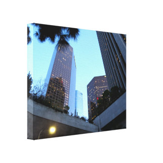 Cityscape 4 stretched canvas print