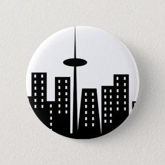 Cityscape 6 Cm Round Badge