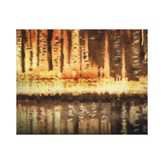 cityscape abstract painting wrapped Canvas Prints