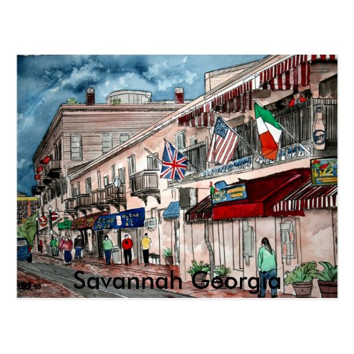 Cityscape architecture historical art, Savannah... Postcards