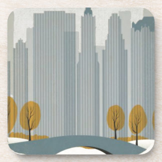 Cityscape art coaster