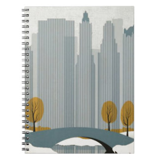Cityscape art spiral notebooks