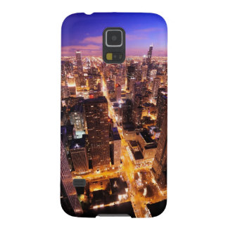Cityscape at night of Chicago Galaxy S5 Covers