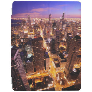 Cityscape at night of Chicago iPad Cover