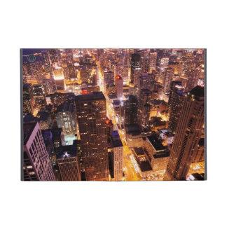 Cityscape at night of Chicago iPad Mini Case