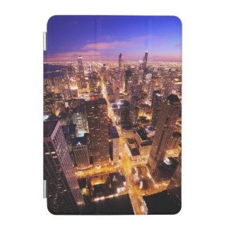 Cityscape at night of Chicago iPad Mini Cover