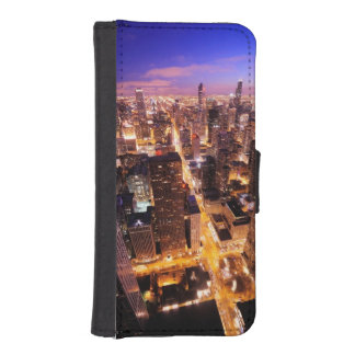 Cityscape at night of Chicago iPhone SE/5/5s Wallet Case