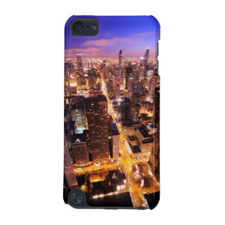 Cityscape at night of Chicago iPod Touch (5th Generation) Case