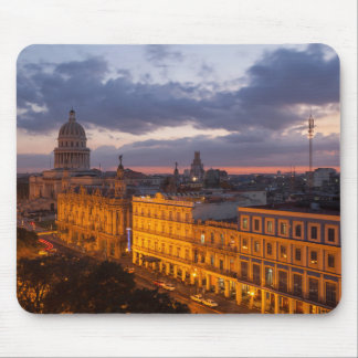 Cityscape at sunset, Havana, Cuba Mouse Mat