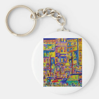 Cityscape Bronx by Piliero Basic Round Button Key Ring