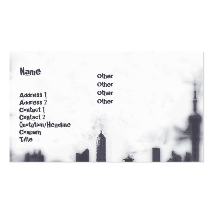 Cityscape - Business Pack Of Standard Business Cards