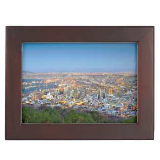 Cityscape From Summit Of Signal Hill At Dusk Keepsake Box