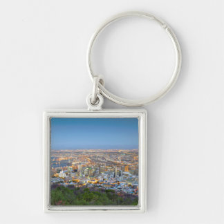 Cityscape From Summit Of Signal Hill At Dusk Keychains