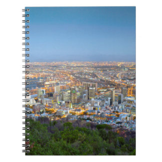 Cityscape From Summit Of Signal Hill At Dusk Spiral Notebook