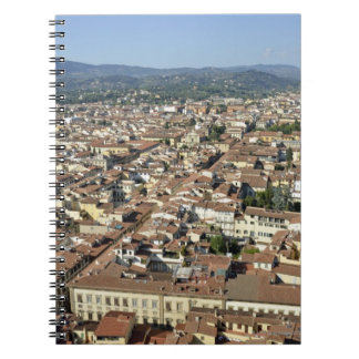 Cityscape from top of cupola of the Duomo Santa 2 Spiral Notebooks