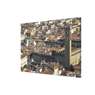 Cityscape from top of cupola of the Duomo Santa Gallery Wrapped Canvas