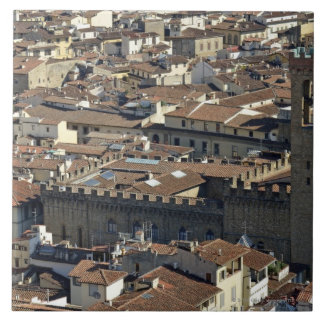 Cityscape from top of cupola of the Duomo Santa Large Square Tile