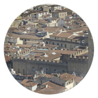 Cityscape from top of cupola of the Duomo Santa Plate
