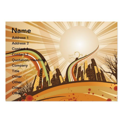 Cityscape illustration business card template
