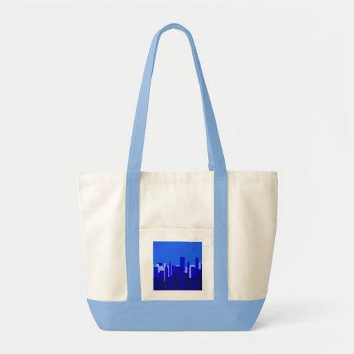 Cityscape Impulse Tote Canvas Bags