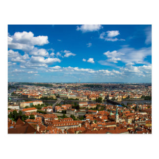 Cityscape in Prague Postcard