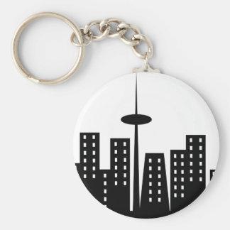 Cityscape Keychain