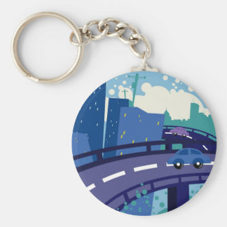 Cityscape Key Chain