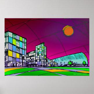 Cityscape modern poster art