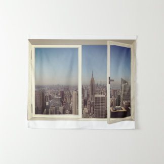 Cityscape New York City Wall Hanging Tapestry