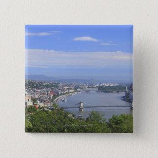 Cityscape of Budapest 15 Cm Square Badge