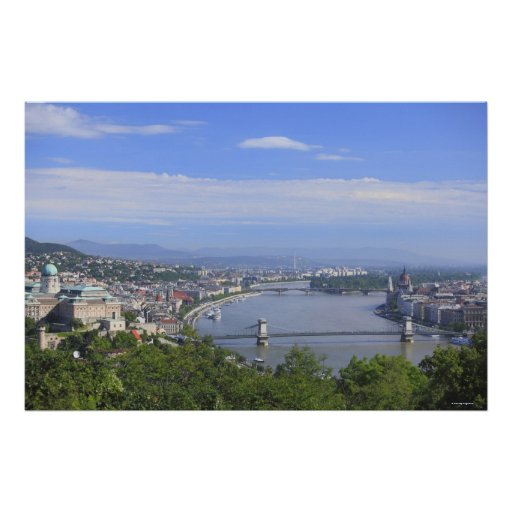 Cityscape of Budapest Poster