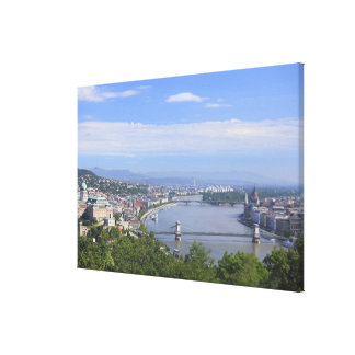 Cityscape of Budapest Stretched Canvas Print