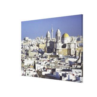 Cityscape of Cadiz, Spain Canvas Print