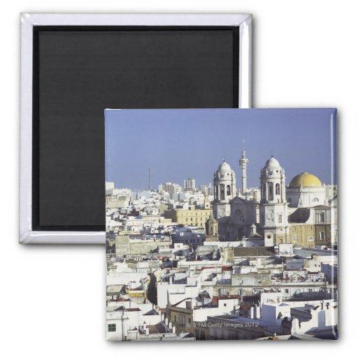 Cityscape of Cadiz, Spain Fridge Magnet