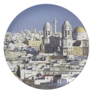 Cityscape of Cadiz, Spain Plate