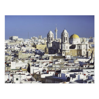 Cityscape of Cadiz, Spain Postcard