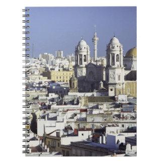 Cityscape of Cadiz, Spain Spiral Notebooks
