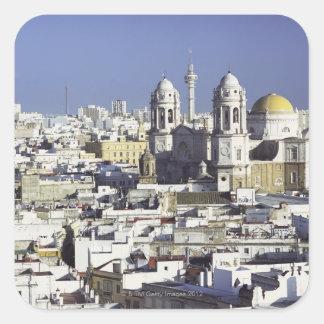 Cityscape of Cadiz, Spain Square Sticker
