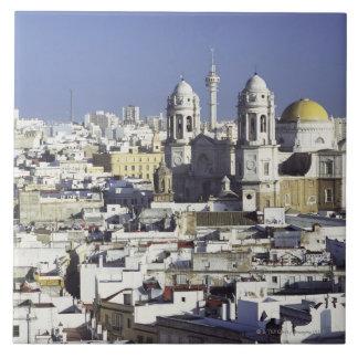 Cityscape of Cadiz, Spain Tile