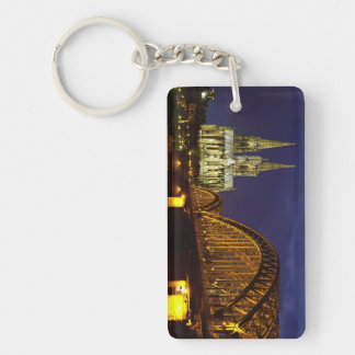 Cityscape of Cologne Keychain