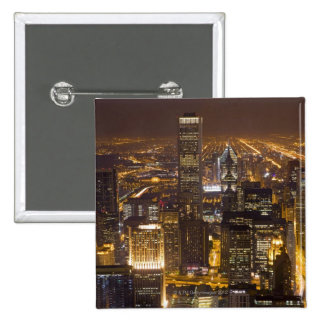 Cityscape of downtown Chicago 15 Cm Square Badge