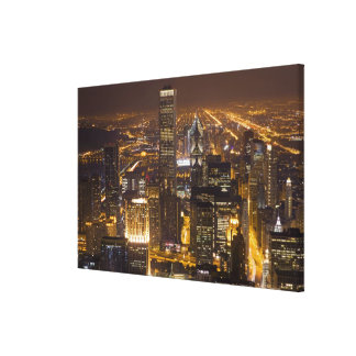 Cityscape of downtown Chicago Gallery Wrap Canvas