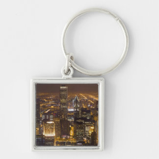 Cityscape of downtown Chicago Keychain