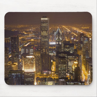 Cityscape of downtown Chicago Mouse Mat